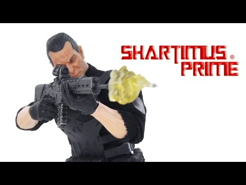 Mezco Toyz Punisher Toy Fair 2017 Exclusive Marvel One:12 Collective Action Figure Toy Review
