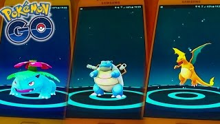 3 EVOLUTIONS : DRACAUFEU, FLORIZARRE, TORTANK ! - Pokemon Go