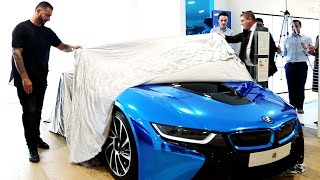 Unveiling Chrome Blue BMW i8 at The BMW i Electric Experience event