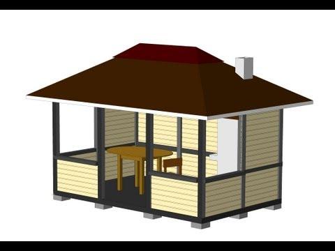 Беседка на даче с мангалом своими руками инструкция и фото постройки 78