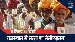 6 मिनट 36 खबरें| राजस्थान में सत्ता का सेमीफइनल;Ajmer, Alwar और मांडलगढ़ में उपचुनाव आज, Voting शुरू