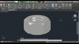 AutoCAD 3D Nut How to Draw Nut, Nut 3D Training Beginner