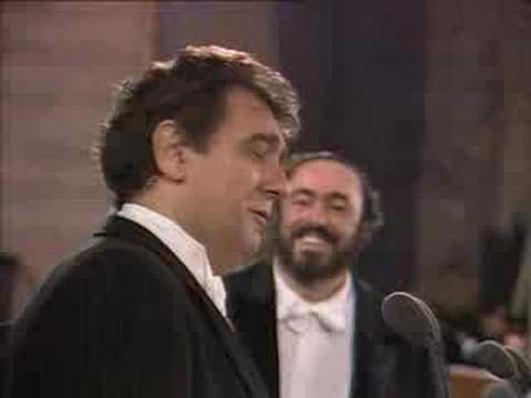 pavarotti & carreras &  p. domigo- cielito lindo - roma 1990