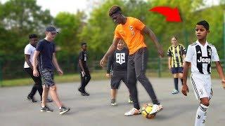 Playing SOCCER Match vs CRISTIANO RONALDO JR!! (Best Kid Footballer EVER)