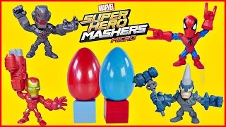 SUPER HERO MASHERS MICRO Spider-Man Iron Man Rhino Ultron MARVEL