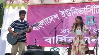 Abonee and Saif - Valobashi Tai Valobeshe Jai, Performing at Annual Picnic of BUP - 2015