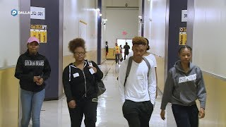 S. Oak Cliff High School moves into temporary location