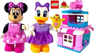 DISNEY JUNIOR LEGO DUPLO MINNIE MOUSE BOW-TIQUE WITH MINNIE DAISY DUCK & CUCKOO FIGURES - UNBOXING
