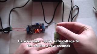 Li-Ion 18650 cells wake up / repair hack