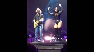 Future now tour- Demi Lovato and Brad paisley