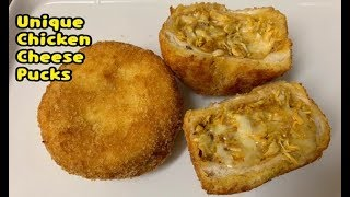 Unique Chicken And Cheese Pucks Recipe / First Ever On Youtube / Make and Freeze Recipe By Yasmin