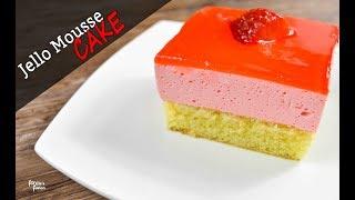 সহজ জেলো মুজ কেক রেসিপি (চুলা ও ওভেনে ) || Easy Jello Mousse Cake Recipe | Jello Cake Dessert Bangla