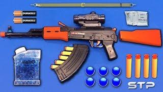 Realistic AK47 Toy Gun   Water Gel Ball Bullet Machine Gun Toy   Soft Darts Shooting Toy Guns