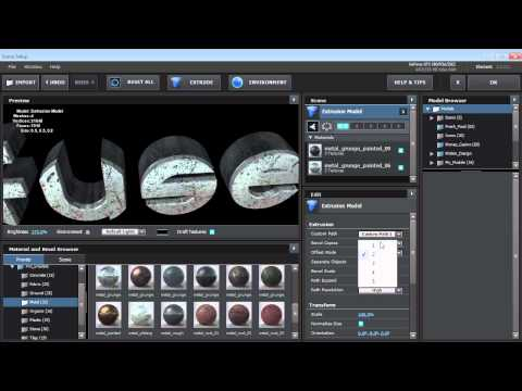 Extrude Text with Element 3D