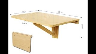 Diy how to make wall mount folding desk with step by step