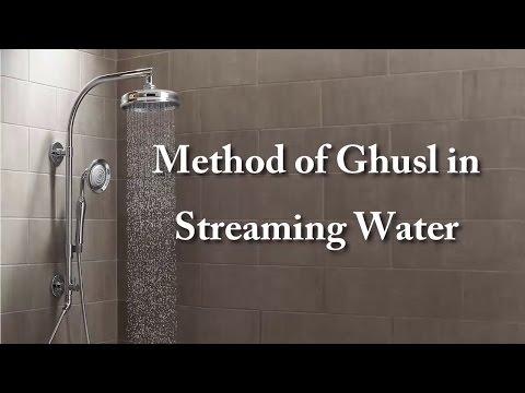 13-Method of Ghusl in Streaming Water |Method Of Ghusl Complete Course