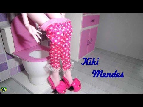 Como fazer banheiro toilet vaso sanitário para casa de bonecas - miniatura faça você mesmo