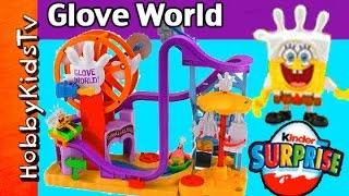 NEW SpongeBob Glove World Toy! Roller Coaster Ride Imaginext Kinder Nickelodeon Ariel Elsa HobbyKids