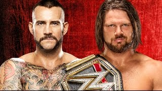 CM Punk vs AJ Styles Wrestlemania 33 Promo HD