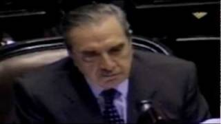 Raúl Alfonsín, discurso en sesión de urgencia el 20/12/01