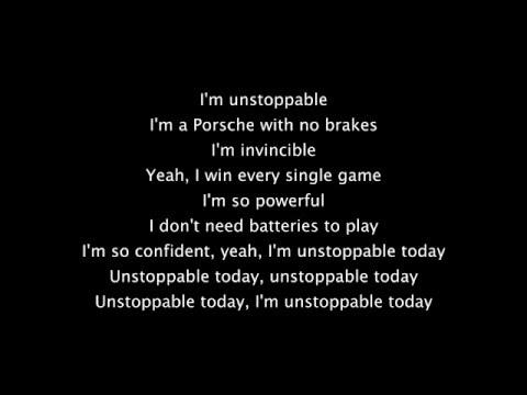 Sia Unstoppable lyrics