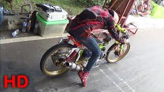 KAJEN Drag Bike Gadhuro FINAL Class Bebek 4T TUNE UP 130 CC Open Part 1