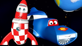 Carl the Super Truck and the Rocket in Car City | Trucks Cartoon for kids 🚚💨🚀