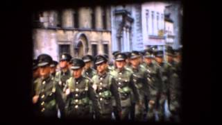Irish Army Marching In Youghal 1956