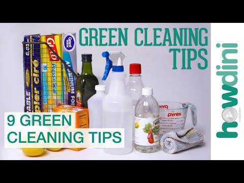 9 Green Cleaning Tips | Howdini Hacks