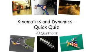 Kinematics and Dynamics Quick Quiz - A level Phyiscs 1