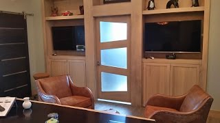 Building a Custom Door With Trapezoid Glass Accents