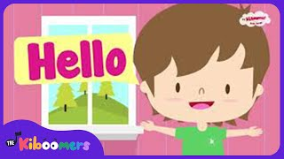 Hello Song | Hello How Are You | Kids Song | ESL | The Kiboomers