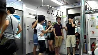 Lee Seol: korean boy playing in the subway 4