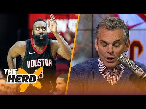 James Harden leads NBA MVP race according to NBA Media Colin Cowherd reacts THE HERD