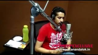 Parambrata's Anandalok exclusive dubbing video for Senapati movie