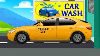 Car Wash   Taxi   Animated Car Wash   Kids Video