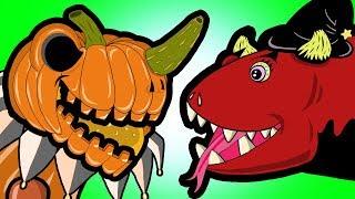 "HALLOWEEN! ""My Cute Shark Attack Cartoon #72 (SHARK vs. DINO!!! BEST OF!!) halloween kids cartoons!"