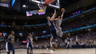 Larry Nance Jr posterizes Mason Plumlee! (Nuggets vs Cavs)