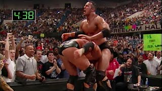 The Rock vs. Triple H - WWE Championship Iron Man Match: Judgment Day 2000