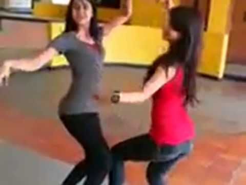 Two Beautiful Girls Dancing on Choli ke Piche Hindi Song