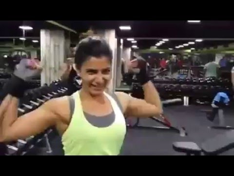 Samantha 100 Kgs Weight Lift | Gym Workouts and Fitness