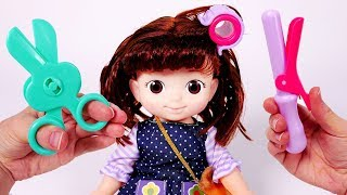Haircut and Baby Doll Playset for Children