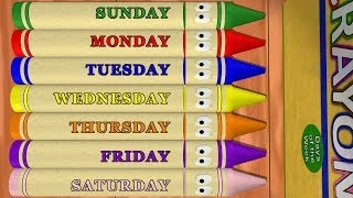 Days of the Week: Sunday to Saturday with Calendar Crayons