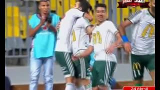 احمد كابوريا يسجل هدف المصري الثاني في الأهلي