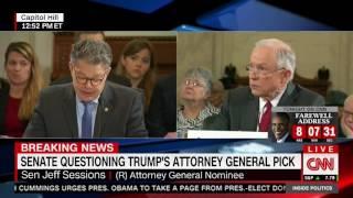 Al Franken calls Jeff Sessions a liar