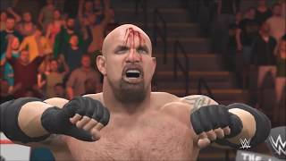 WWE RAW 2017 Goldberg vs Braun Strowman