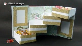 Tower Gift Box With Shelves Tutorial   Gift box Idea    How to make   JK Arts 969