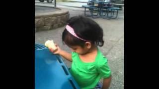 Chulbulli enjoying her ice cream