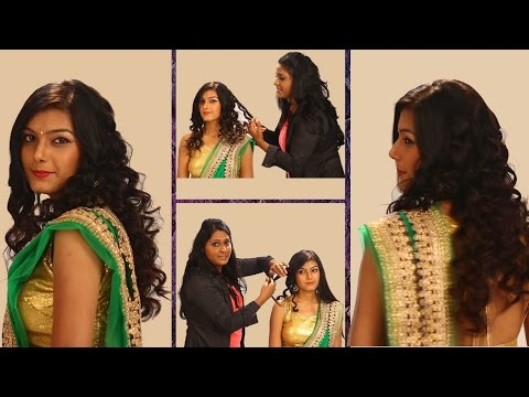 Xxx Mp4 Curls Hairstyle For Indian Weddings Side Curls Haistyles Top Best Indian Hairstyle For Saree 3gp Sex