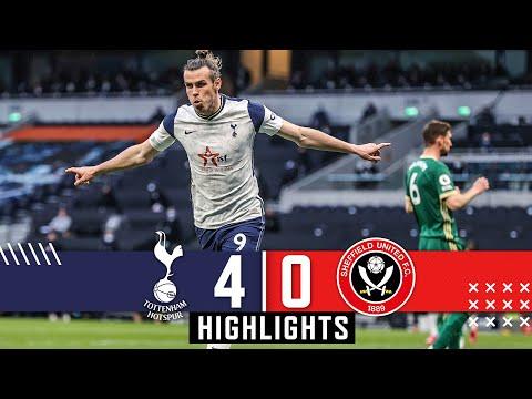 Tottenham Hotspur 4 0 Sheffield Utd Premier League highlights Gareth Bale Hat Trick downs Blades